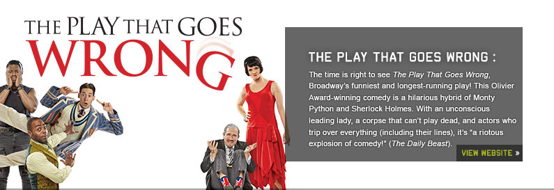 The Play That Goes Wrong New World Stages