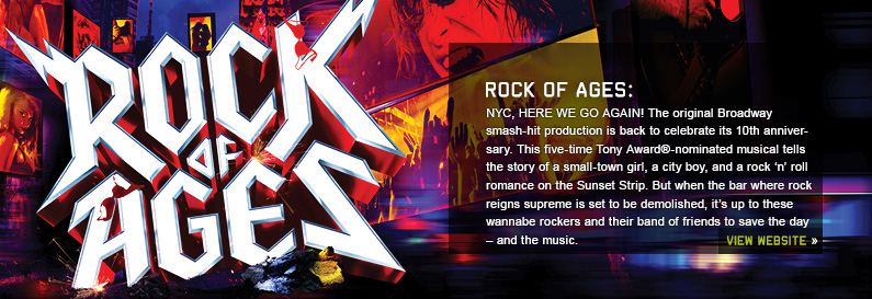 Rock of Ages New World Stages Off Broadway musical tickets